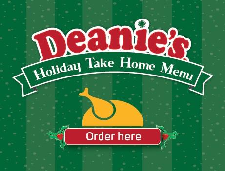 Deanie's Holiday Take Home Menu